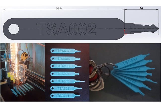 3D printer blueprints for TSA luggage-unlocking master keys leak online