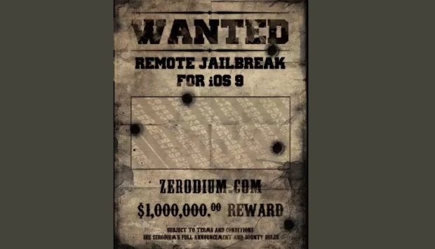 Exploit broker offers $1 million for reliable iOS 9 exploit