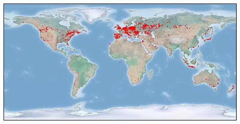 Map of  tinba