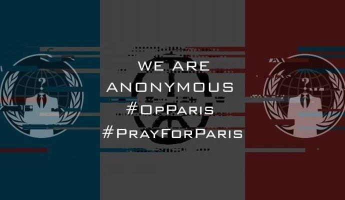 Anonymous Announces Payback for ISIS Paris Attacks