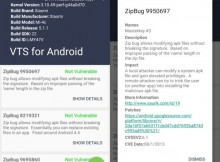 VTS scans Android devices for publicly-known vulnerabilities