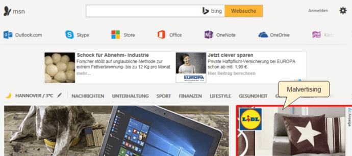 MSN Home Page Drops More Malware Via Malvertising