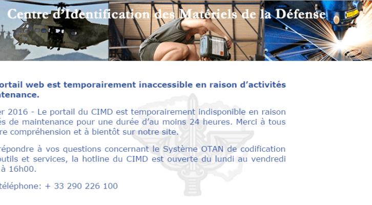 Anonymous hacked the France's Ministry of Defense portal CIMD (Centre d'Identification des Materiels de la Defense)