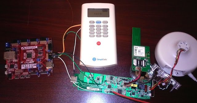 Remotely Disabling a Wireless Burglar Alarm