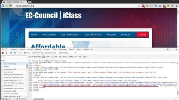 EC Council Website Hacked and used to serve malicious code