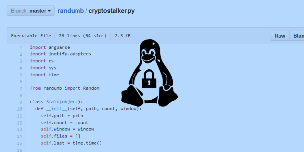 Cryptostalker, a Tool to Detect Crypto-Ransomware on Linux