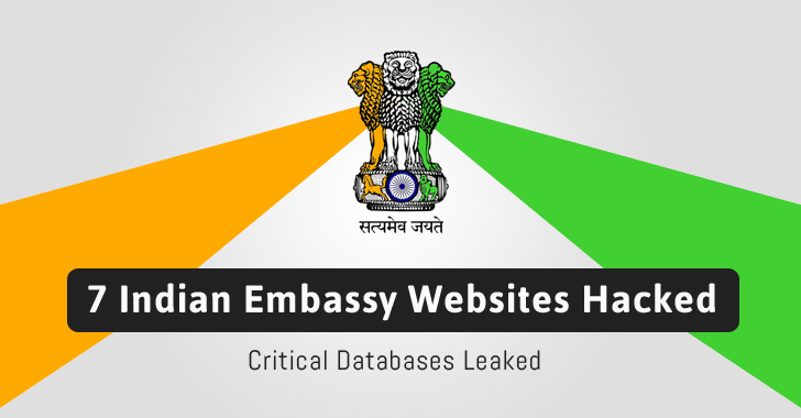 Seven websites of Indian Embassy hacked, database leaked