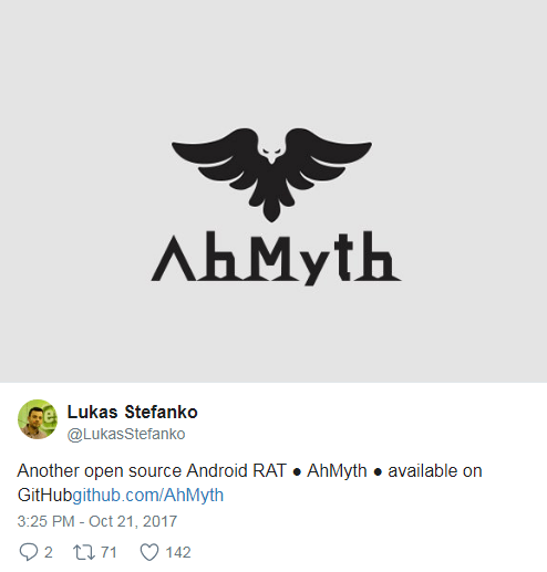 AhMyth Android RAT, another open source Android RAT Tool available