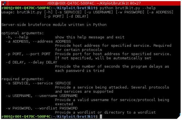 Tool to perform brute force attacks on ssh, smtp, facebook and