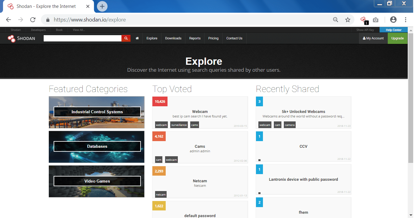 Find Webcams, Databases, Boats in the sea using Shodan