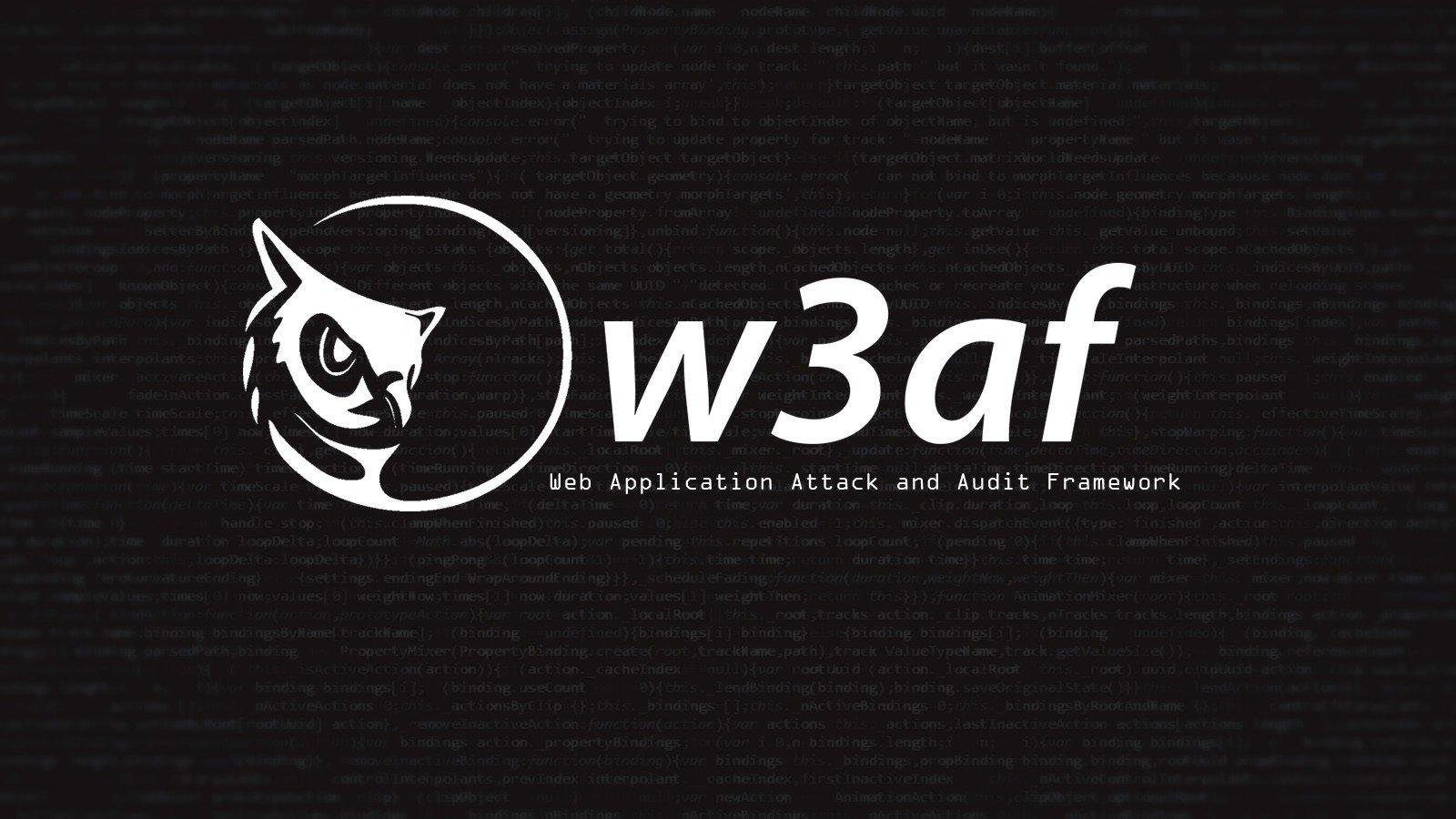 Hacking websites with w3af