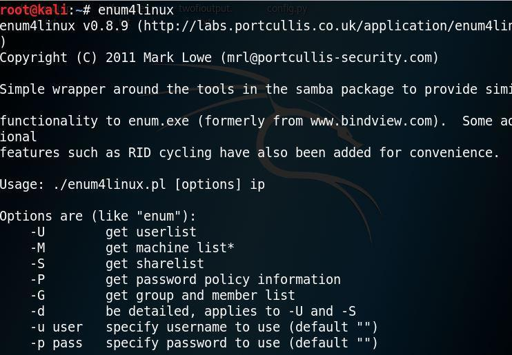 Extract info from Windows machine using ENUM4LINUX