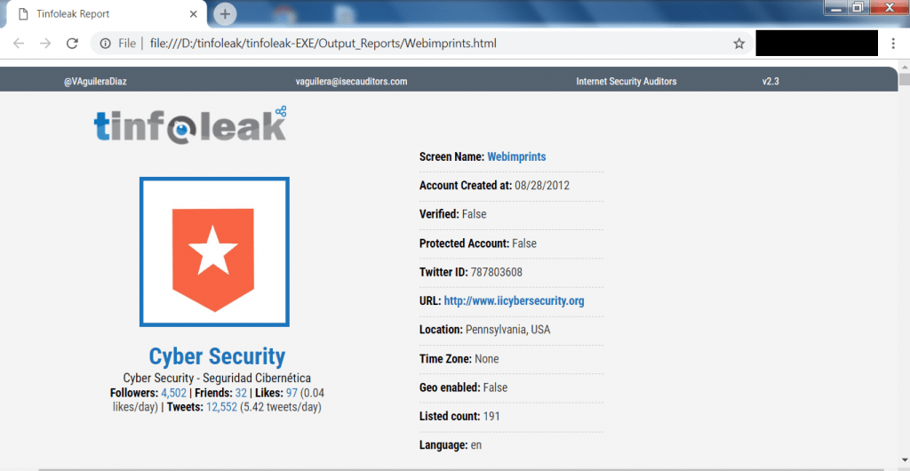 Hack any Twitter account with Tinfoleak  Use it for analyze