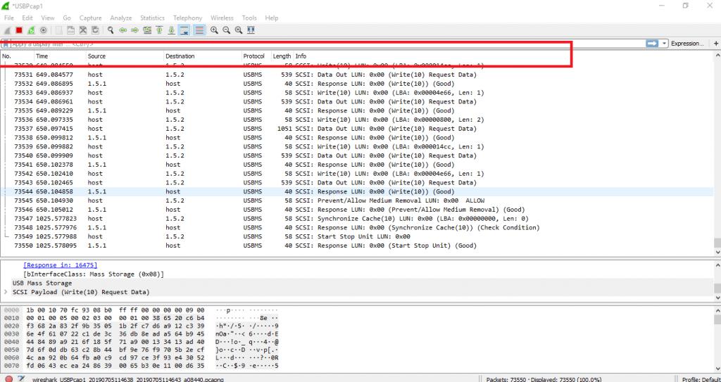How to analyze USB Traffic