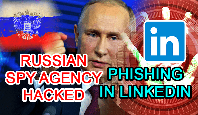 linkedin phishing russian spy agency hacked hacking hack