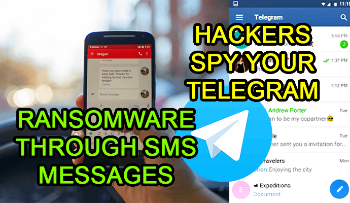 sms messages ransomware malware telegram hack maliciosos links hacks