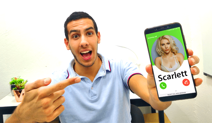 spoofing scarlett johansson cell phone change caller id app spoof apps