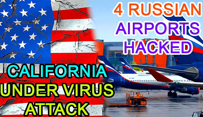 airport hacked russia hack hacking california cyberatack ransomware malware us united states