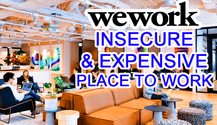 wework networks wifi insecure expensive cost rent offices