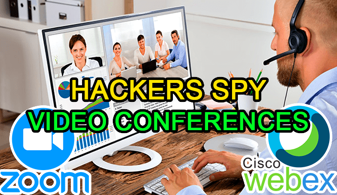 hack cisco webex zoom spy video conferences vulnerability live
