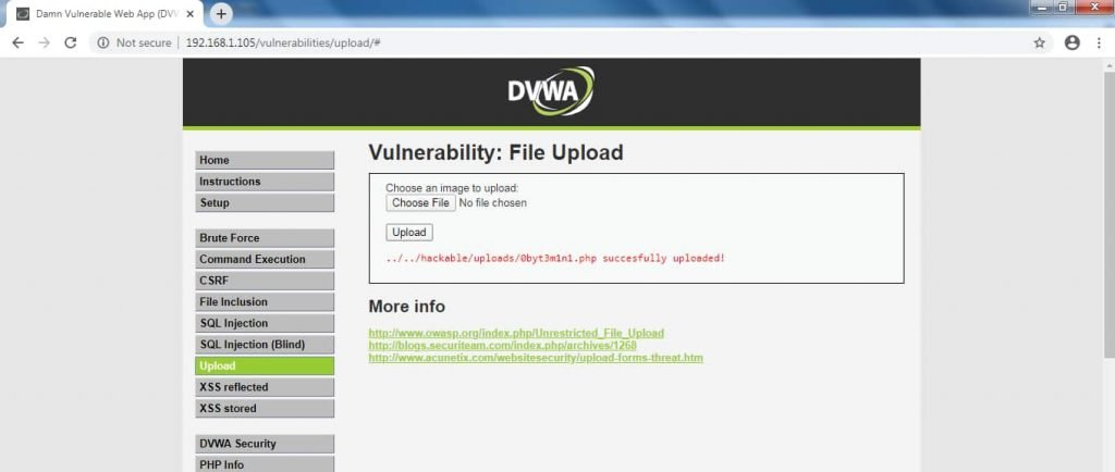 Vulnerability : File Upload