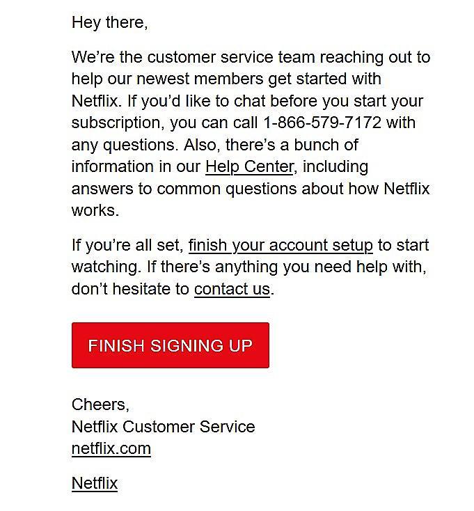NetFlix Phishing Email 1