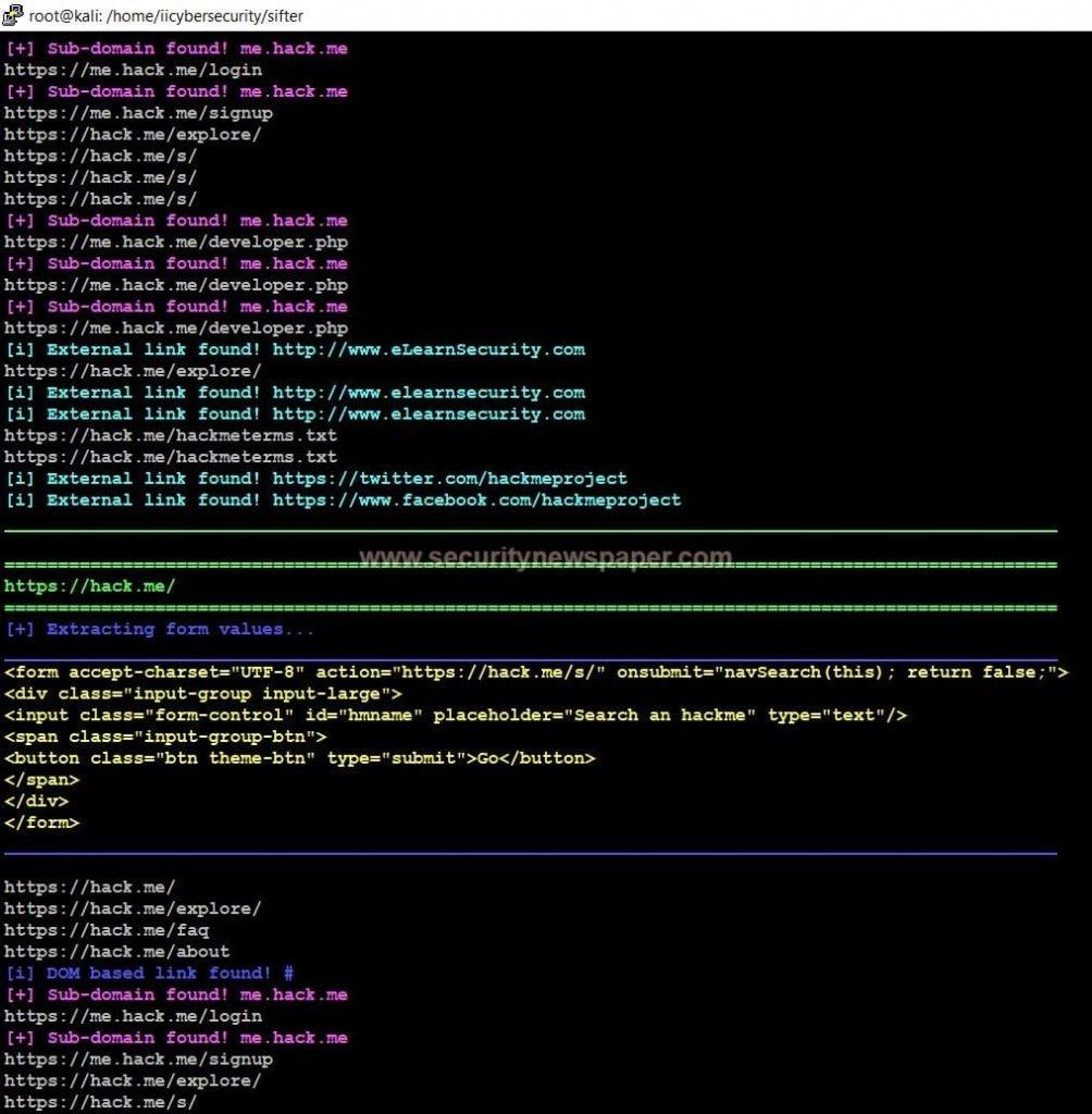 Blackwidow Website Scanner Fig 2