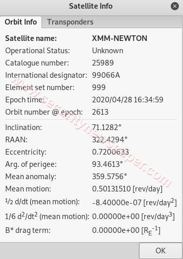 Satellite Info