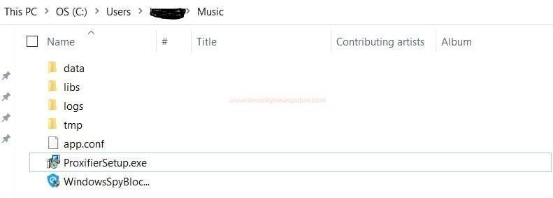 Windows Spy Blocker's Folder