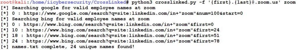 CrossLinked Email Search