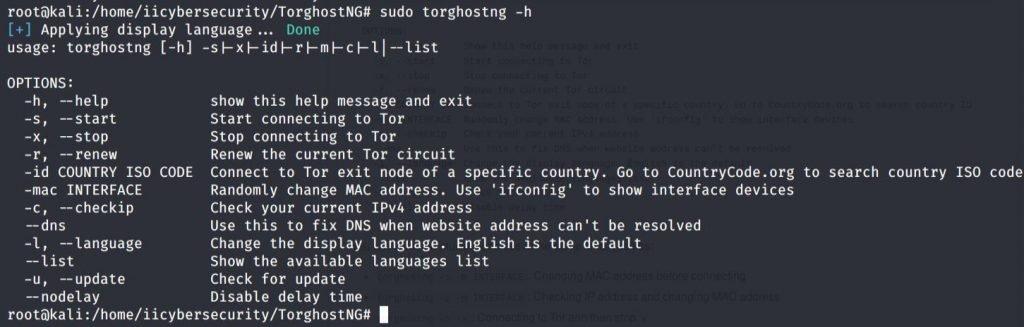 TorGhostNG - Help