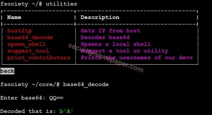 Fsociety - Utilities - Base64 Decode