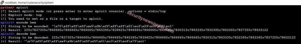 Pythem - Shellcode En/Decoder