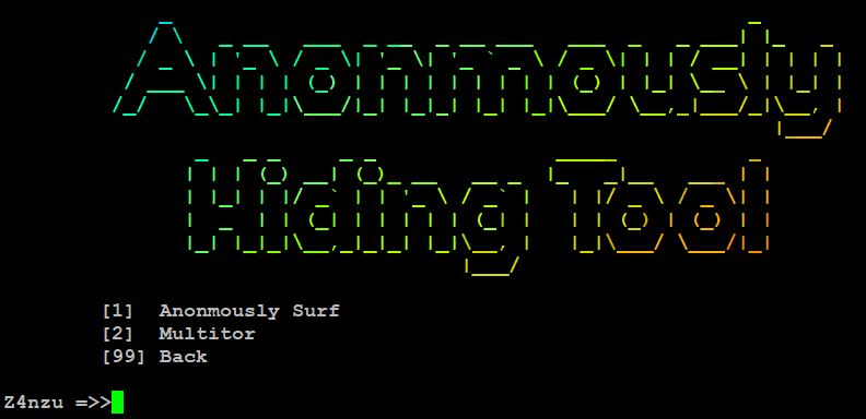 Hacking Tool - Anonmously Hiding Tool
