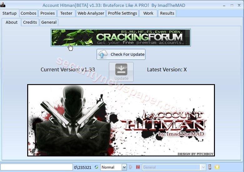 Account Hitman Tool Main Screen