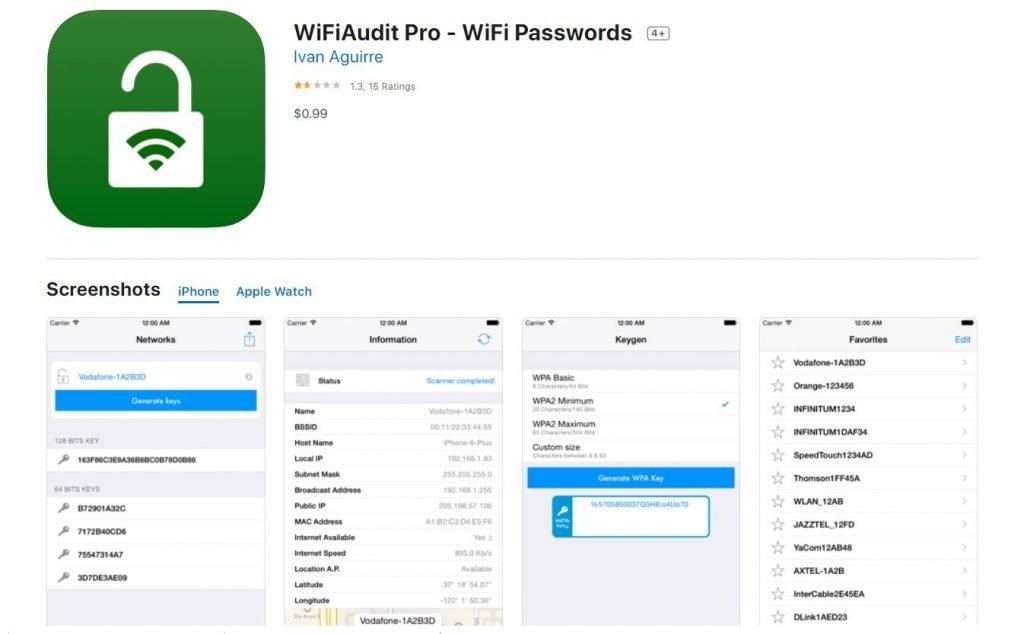 WIFIAudit - Iphones