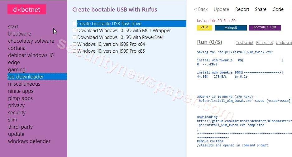 Debotnet - ISO downloader