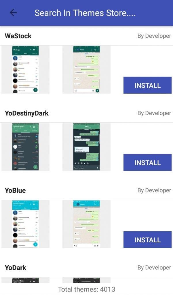 GB Whatsapp - Themes