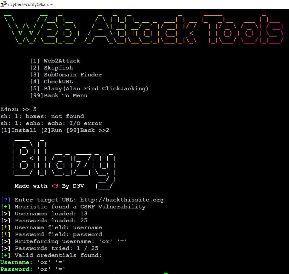 Hacking Tool - Web Attack Tools