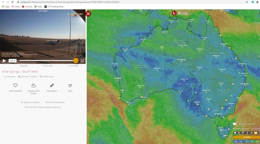 Webcams travel