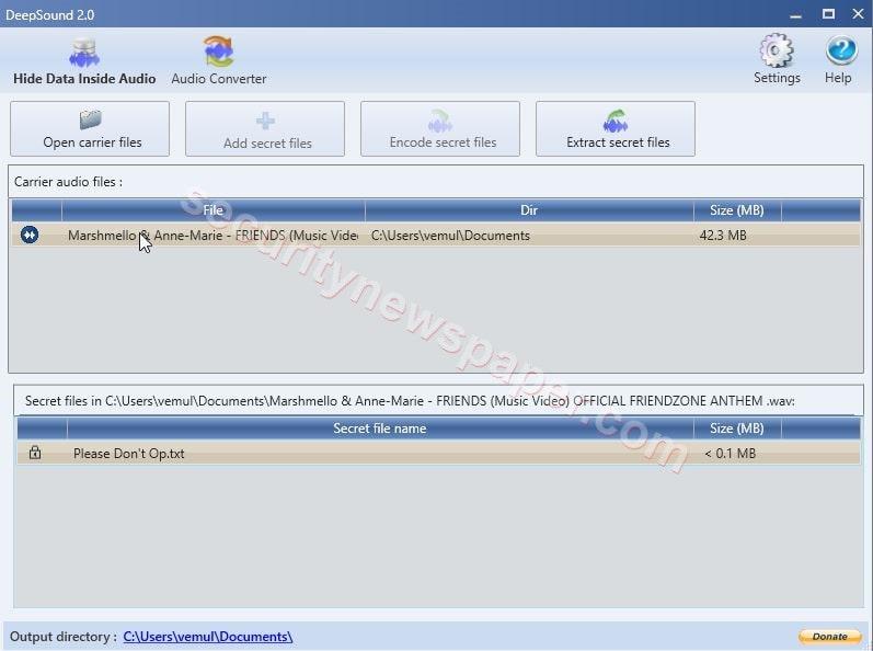 DeepSound-2.0 - Extract Audio File