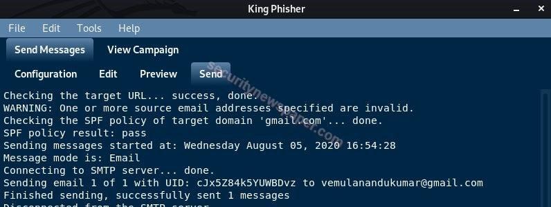 KingPhisher - Logs