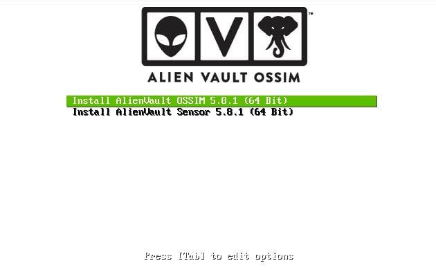 OSSIM Installation Screen 1