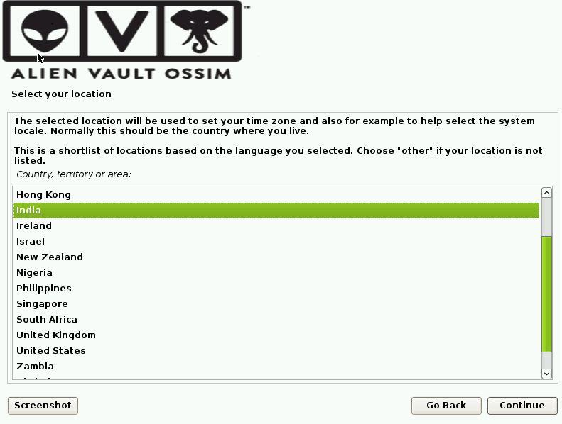 OSSIM Installation Screen 3