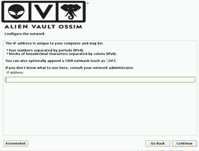 OSSIM Installation Screen 5