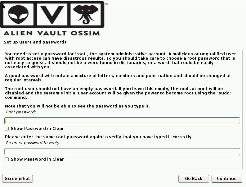 OSSIM Installation Screen 6