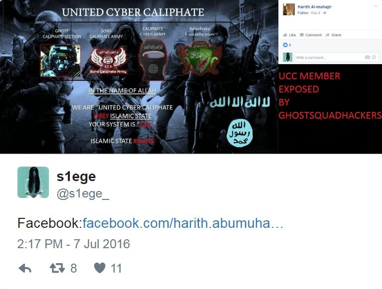 Ghost Squad hackers dox United Cyber Caliphate including