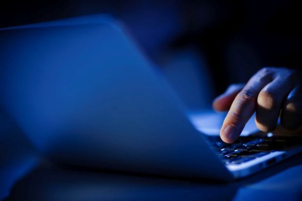 BERLIN, GERMANY - JUNE 22: In this photo Illustration hands typing on a computer keyboard on June 22, 2016 in Berlin, Germany. (Photo Illustration by Thomas Trutschel/Photothek via Getty Images)