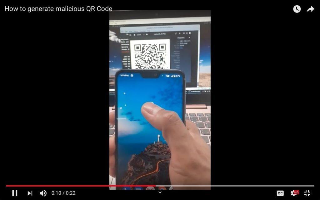 Generate Malicious QR Code